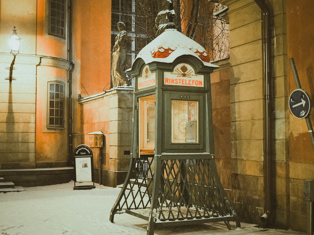 Snow in Stockholm, Sweden