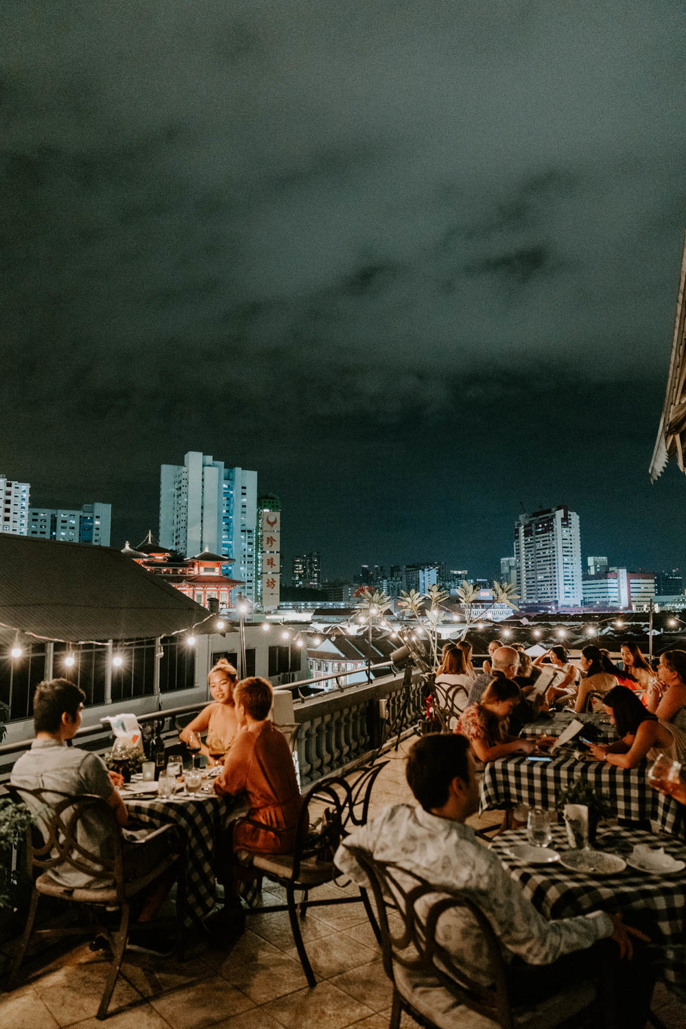 View from The Aria rooftop restaurant and bar in Singapore