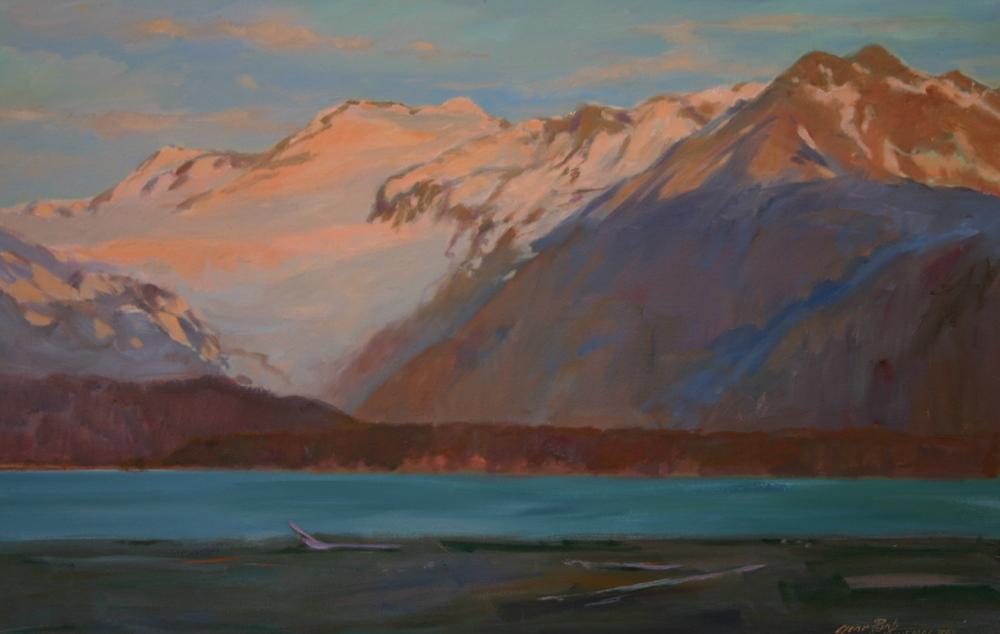 Kachemak Bay Glacier 24 x 36 Oil on canvas
