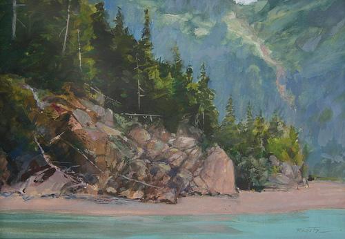 kachemak bay low tide 10 x 14 watercolor