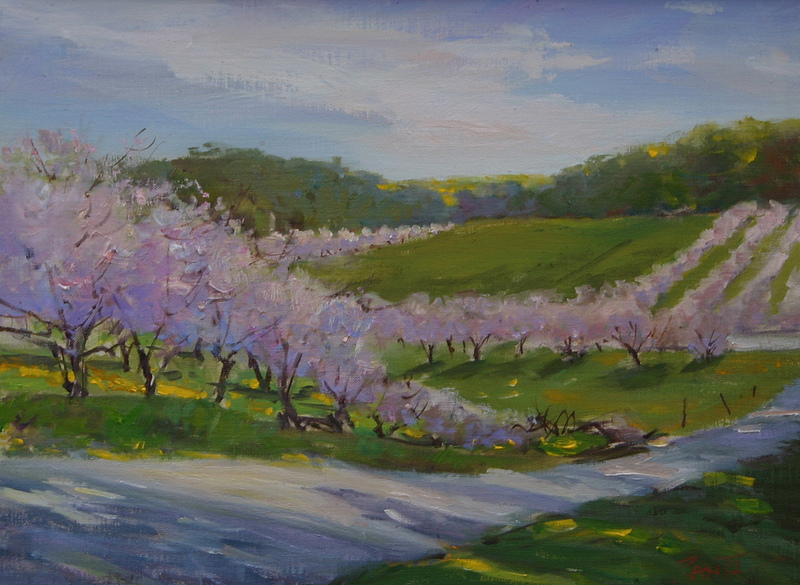 onomonee road blossoms 12 x 16 S O L D