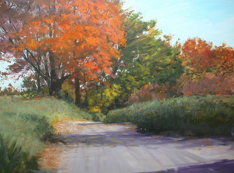 kitchen road maple 30 x 40 oil   S O L D