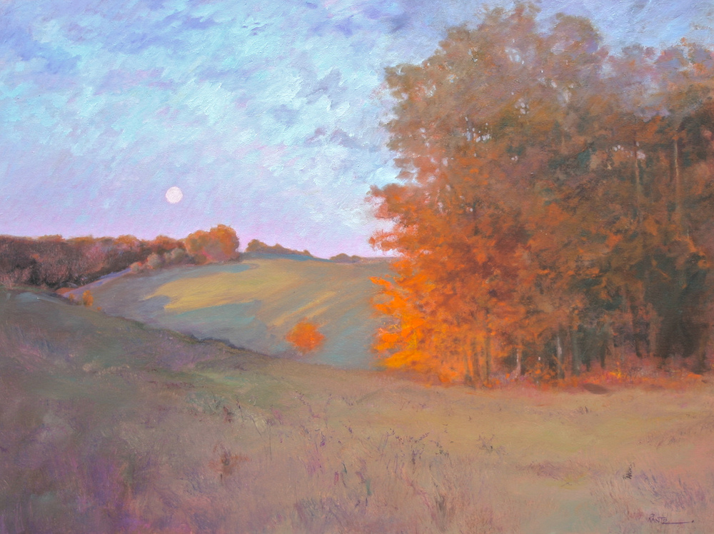evening shadows 3- x 40 oil on canvas    S O L D