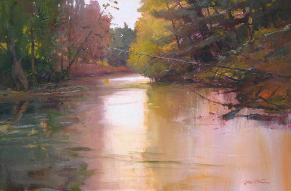 crystal river reflections 20 x 30 oil on canvas