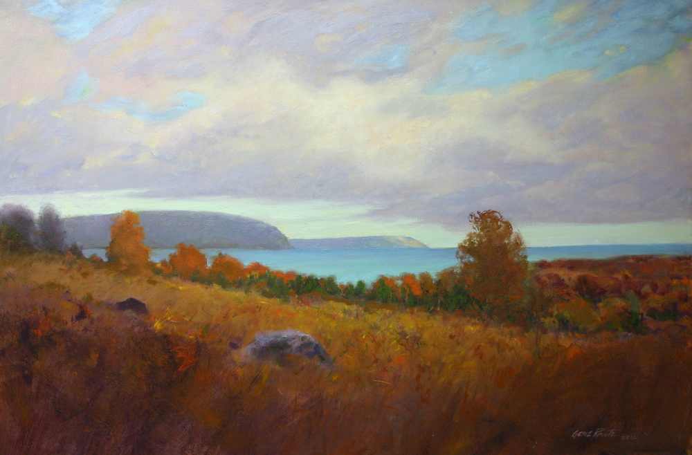 looking towards whaleback oil on canvas