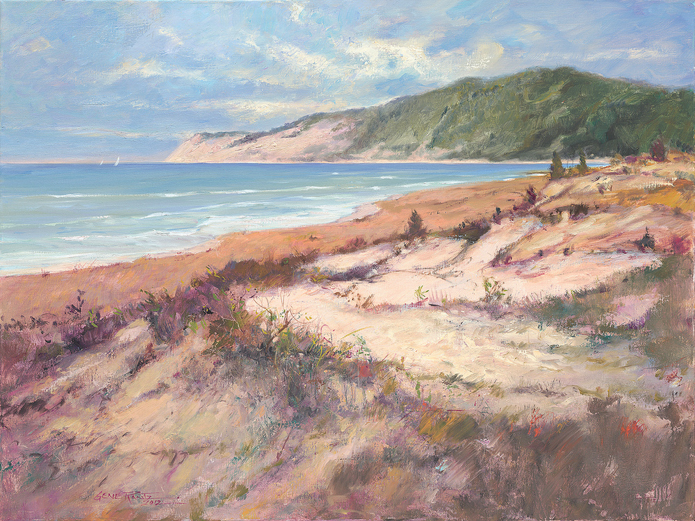 empire bluff from otter creek 30 x 40 oil on canvas