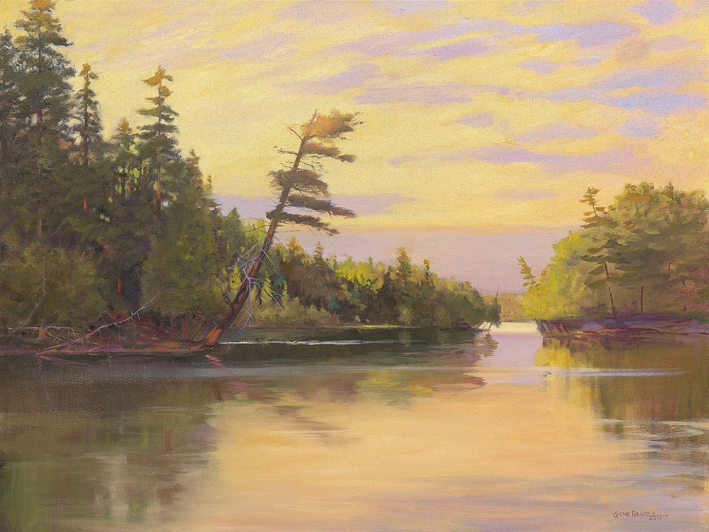 crooked lake 30 x 40 oil on canvas