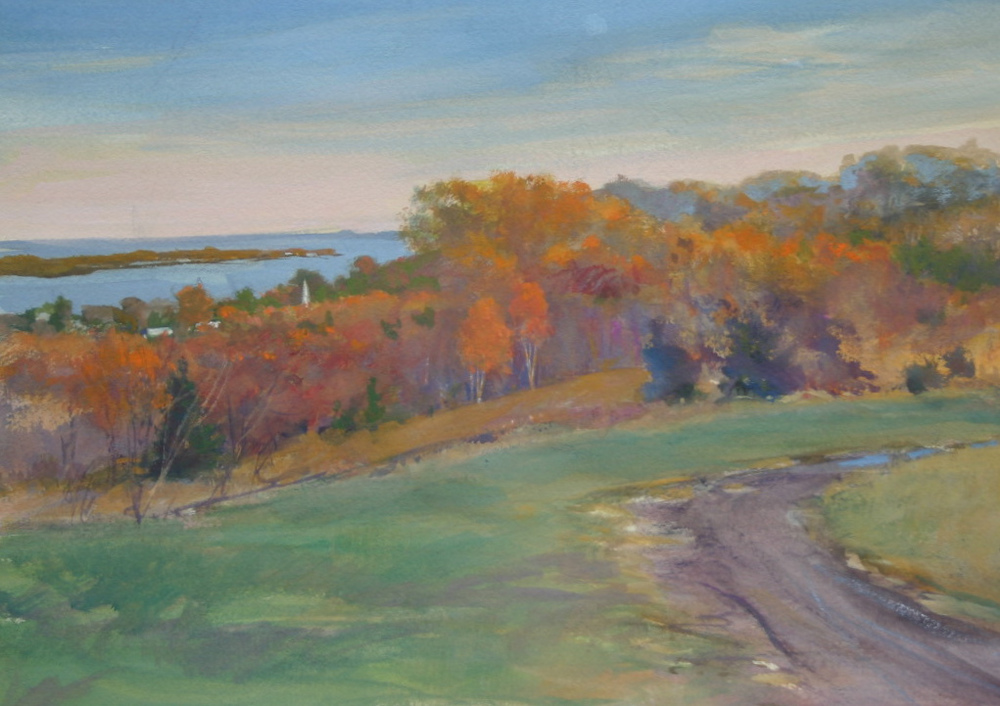 northport bay overlook 10 x 14 watercolor