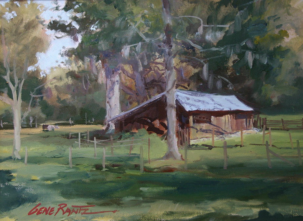 Florida chicken shed oil on canvas