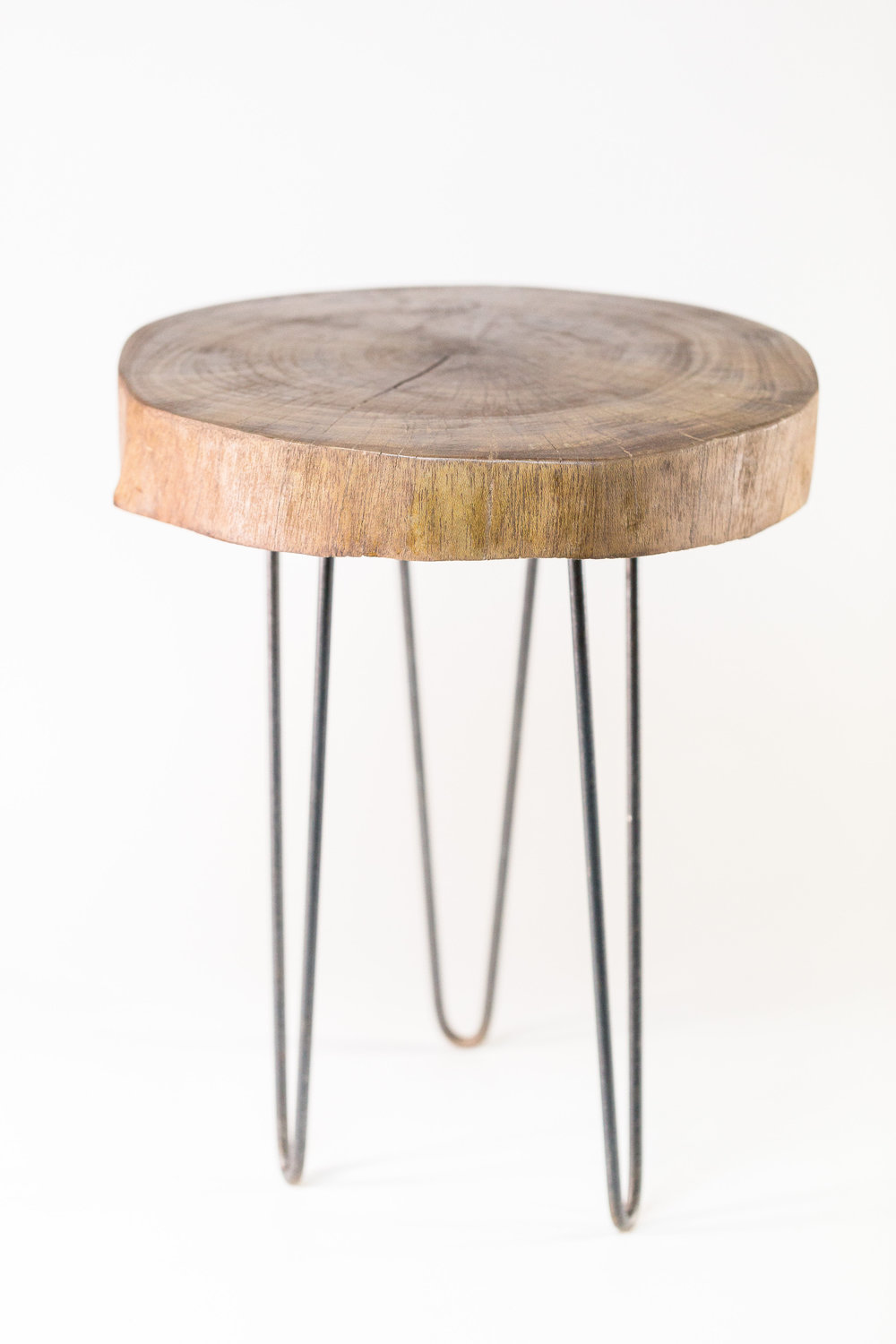 Wooden Slab End Table