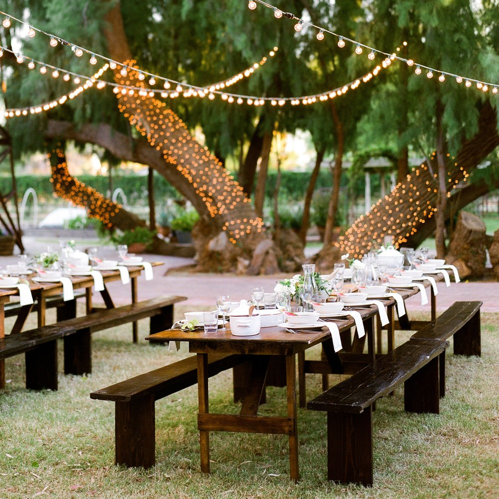 A Party that Gives Major Alfresco Dining Goals - Featured on Style me pretty