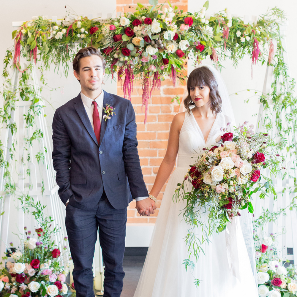 Love Full Bloom Wedding Inspiration - Featured on Ruffled blog