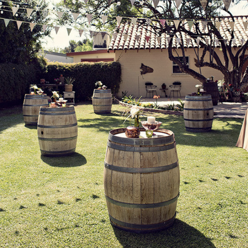 Fun & Funky Backyard Wedding - featured on wedding chicks