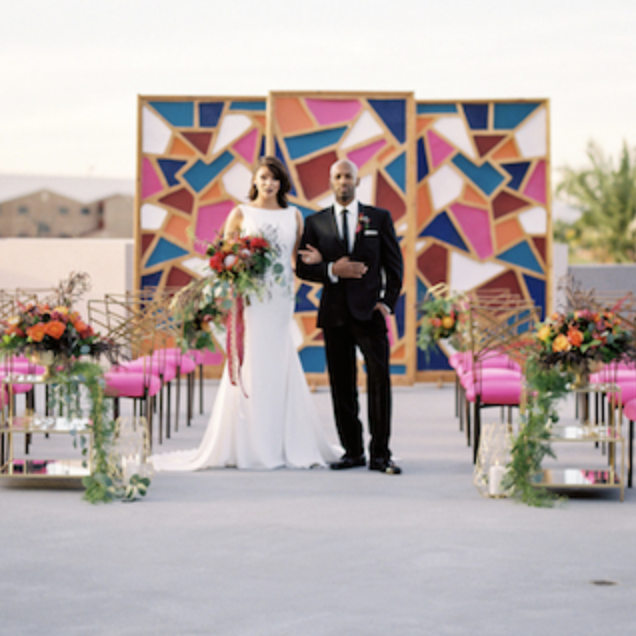 Modern Bohemian Wedding Inspiration - Featured on The Perfect Palatte