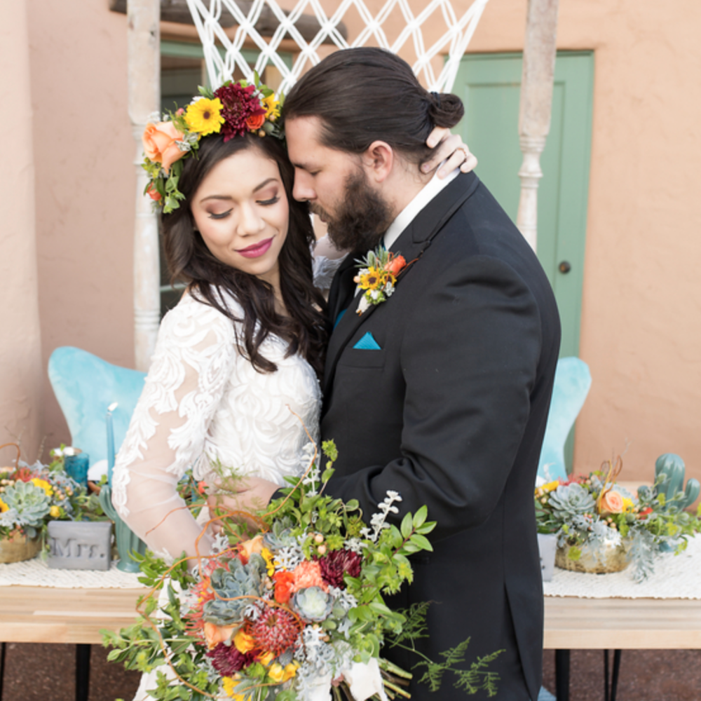 Boho Desert Wedding Inspiration - Featured on The Perfect palette
