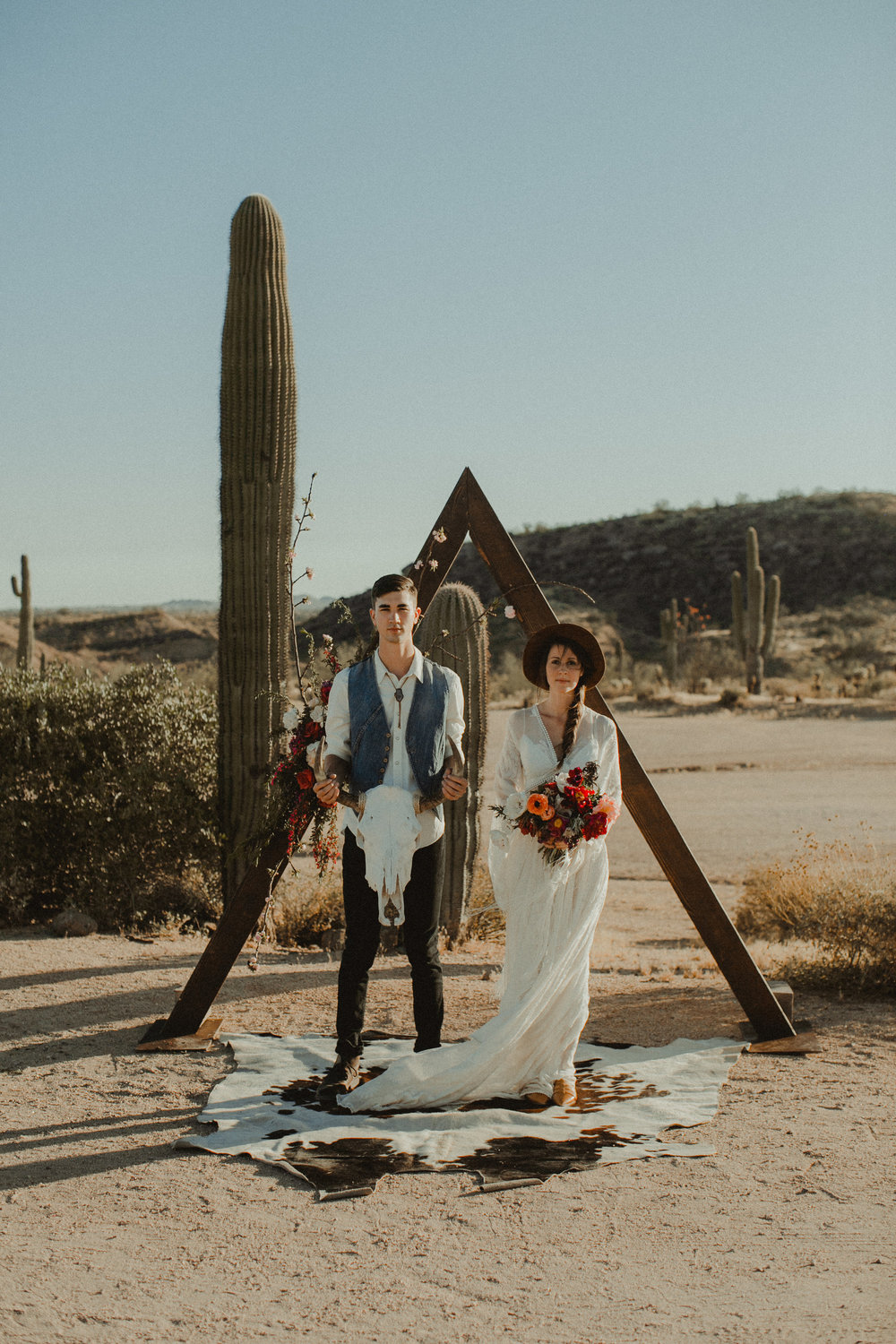 Desert Boho Vagabond Inspiration Shoot with Tremaine Ranch, From the daisies, Noir Floral, Phoenix, Arizona - Wedding & Event Rentals, Vintage, Specialty33.jpg