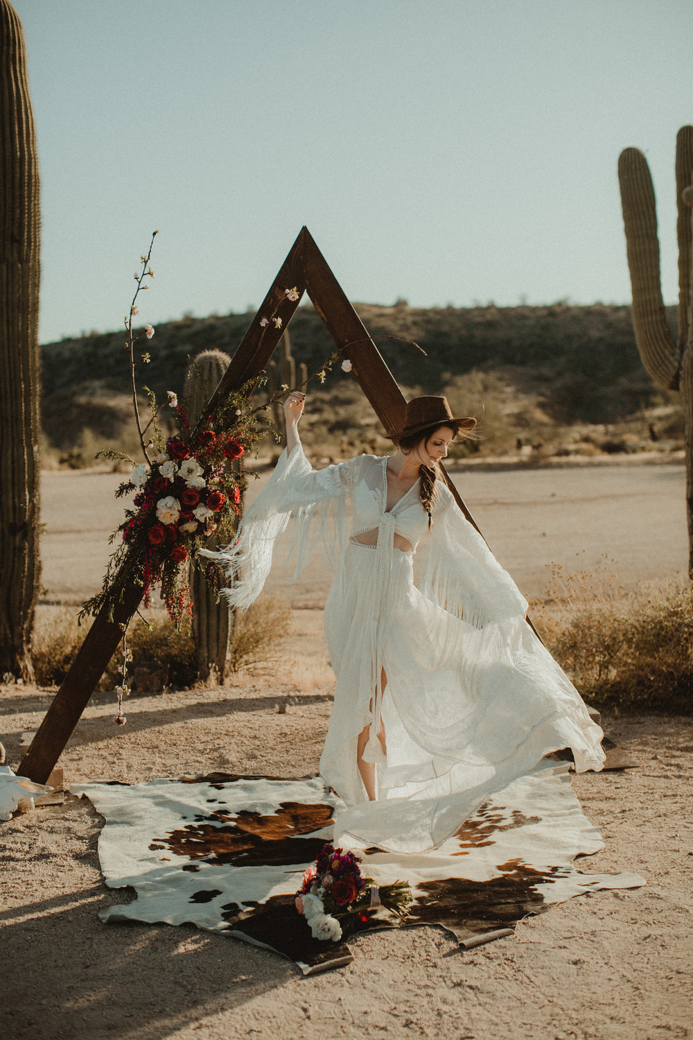 Desert Boho Vagabond Inspiration Shoot with Tremaine Ranch, From the daisies, Noir Floral, Phoenix, Arizona - Wedding & Event Rentals, Vintage, Specialty19.jpg