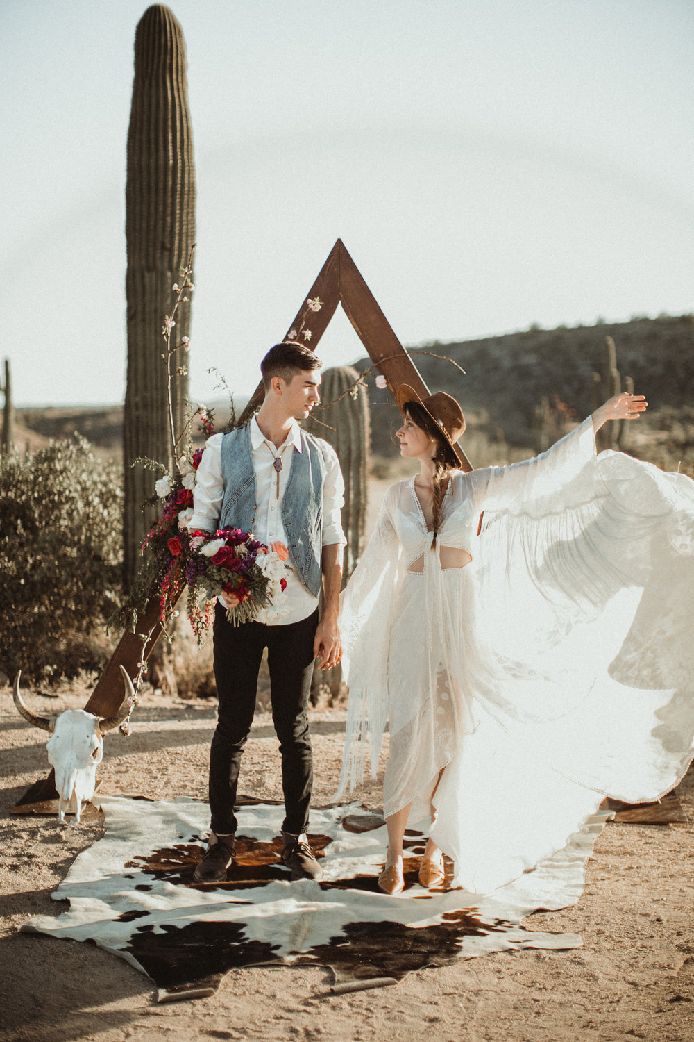 Desert Boho Vagabond Inspiration Shoot with Tremaine Ranch, From the daisies, Noir Floral, Phoenix, Arizona - Wedding & Event Rentals, Vintage, Specialty48.jpg