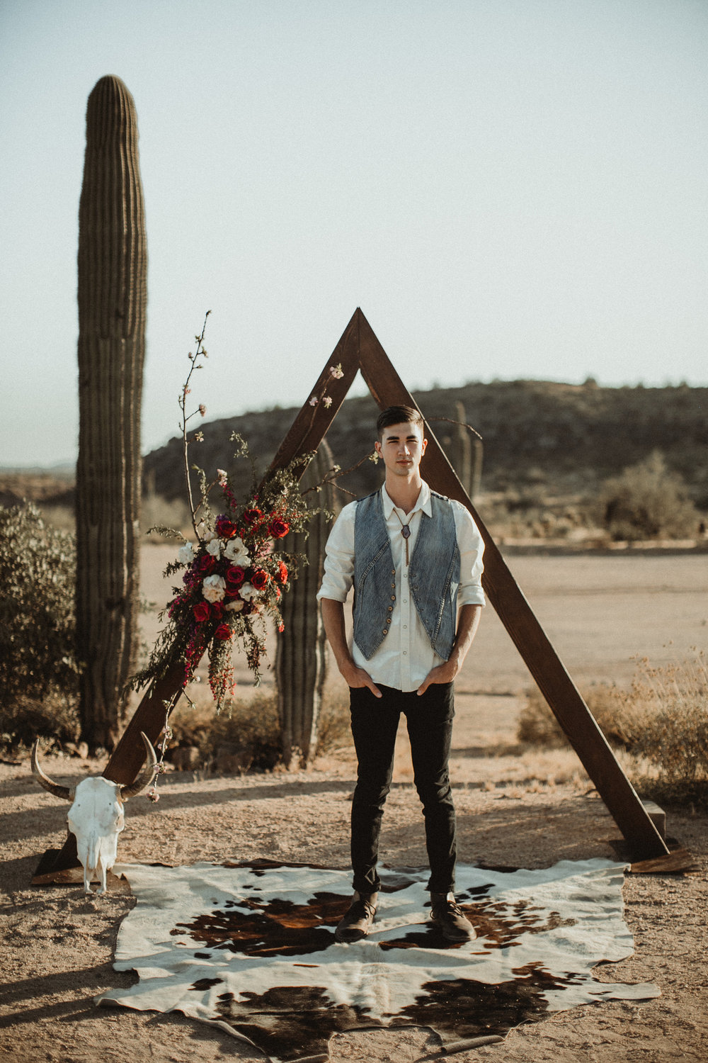 Desert Boho Vagabond Inspiration Shoot with Tremaine Ranch, From the daisies, Noir Floral, Phoenix, Arizona - Wedding & Event Rentals, Vintage, Specialty65.jpg