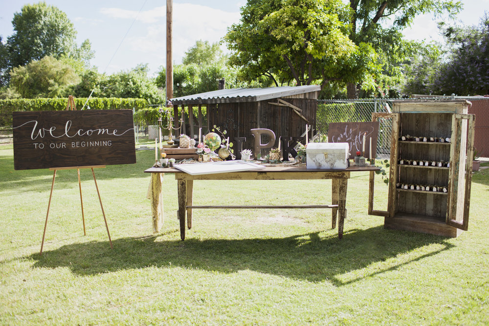 Backyard Wedding Celebration with Tremaine Ranch Wedding Event Tableware Vintage Rentals Arizona7.jpg