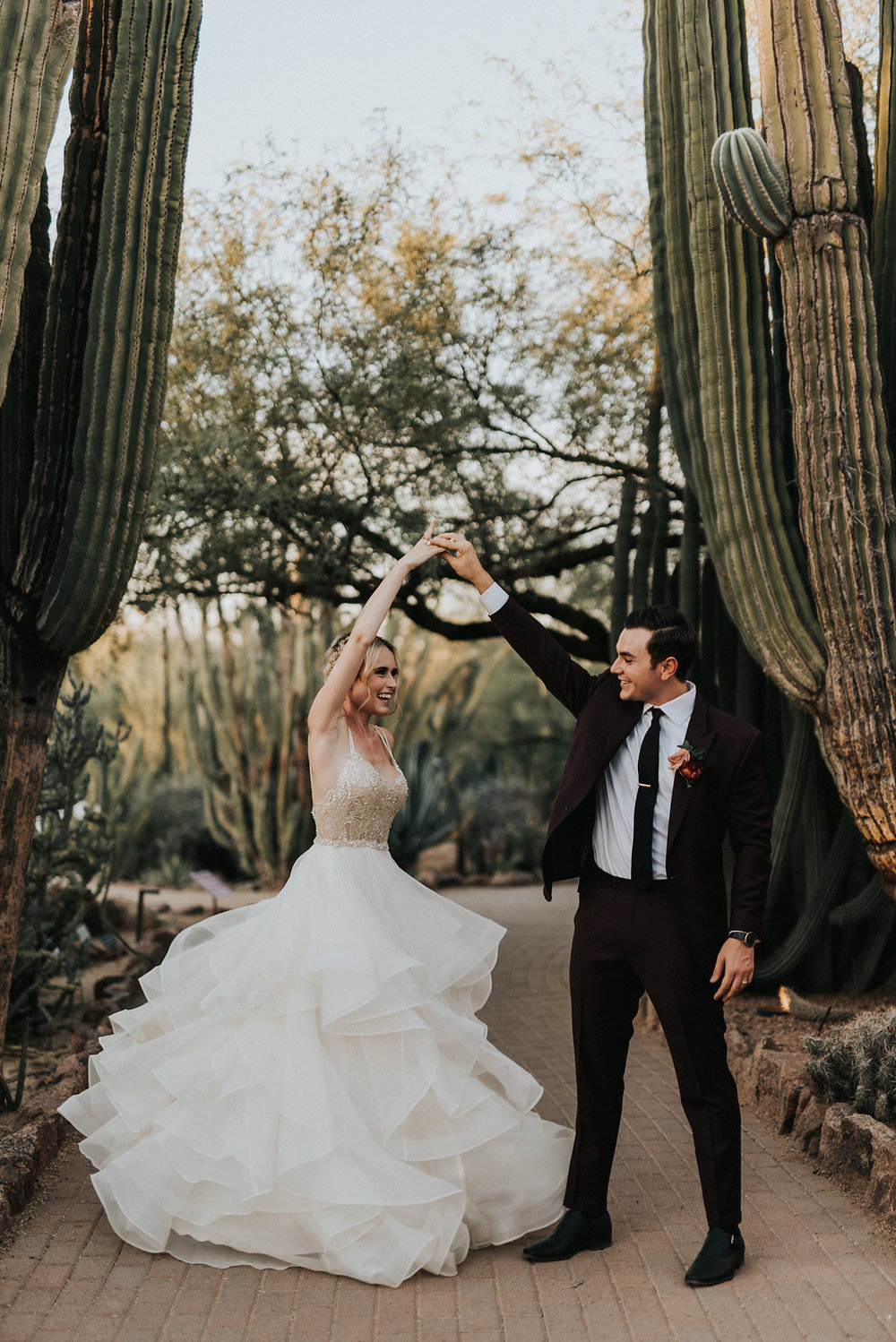 A Colorful Arizona Sunset Wedding at the Desert Botanical Gardens - Tremaine Ranch Arizona Wedding Event Vintage Furniture Tableware Specialty Rentals with Jonnie and Garrett33.jpg