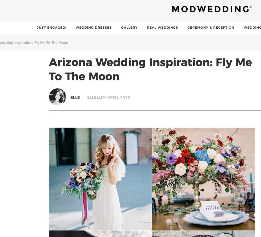 Arizona Wedding Inspiration - Featured On Mod Wedding