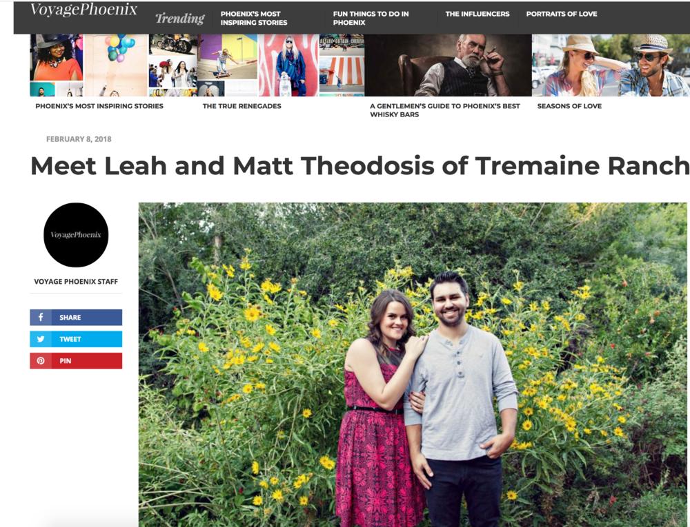 Meet Leah + Matt of Tremaine Ranch - Featured On Voyager Phoenix