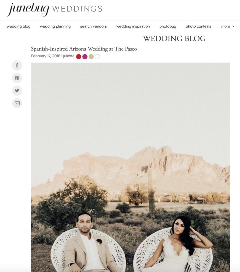 Spanish Inspired Wedding in Arizona - Featured On Junebug Weddings