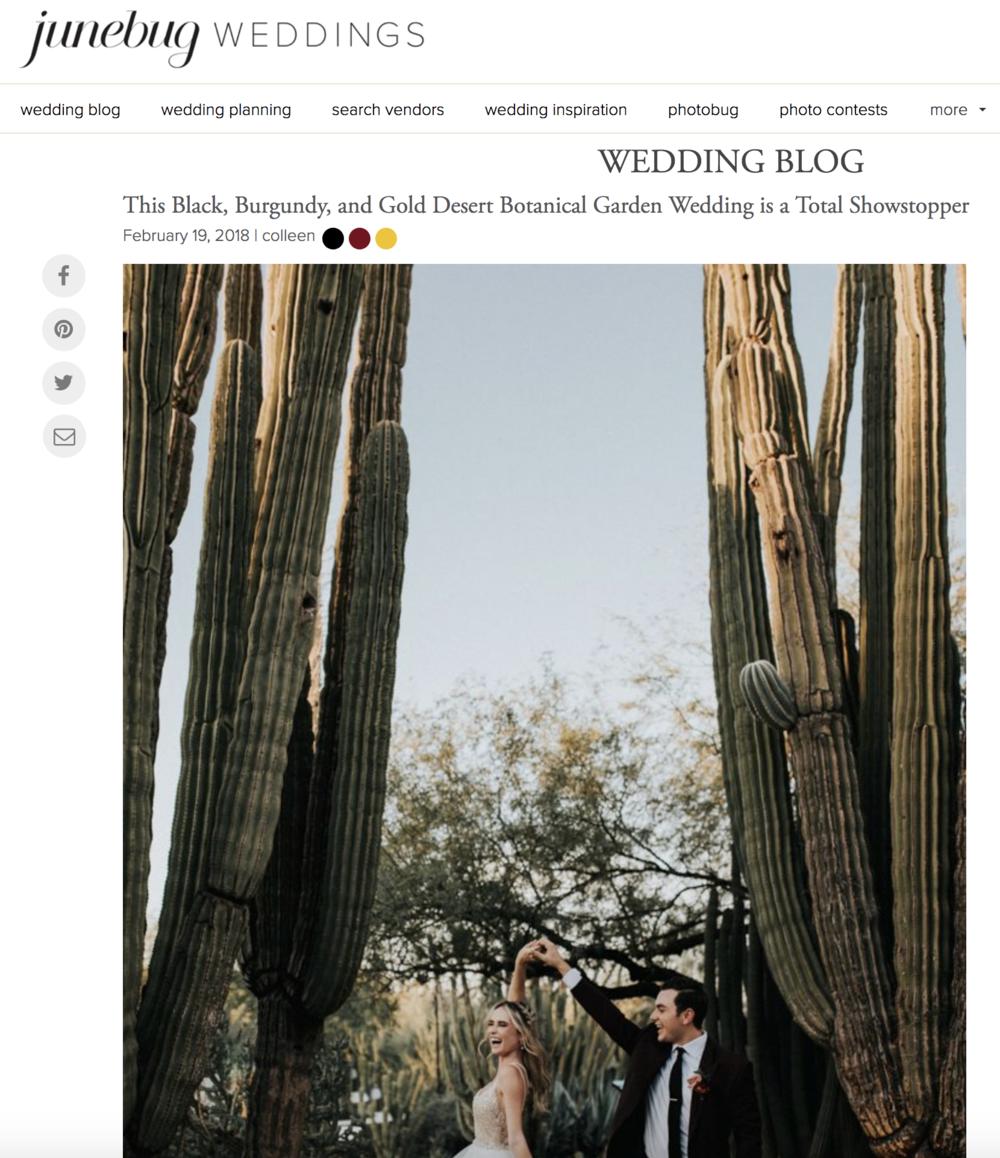 Black, Burgundy and Gold Wedding - Featured On Junebug Weddings