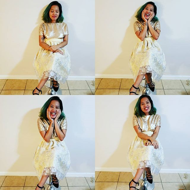 The many moods of @nonsensenonnie wearing a dress that took too long to sew by yours truly. Isn't she so cute!? @nontaniwphoto