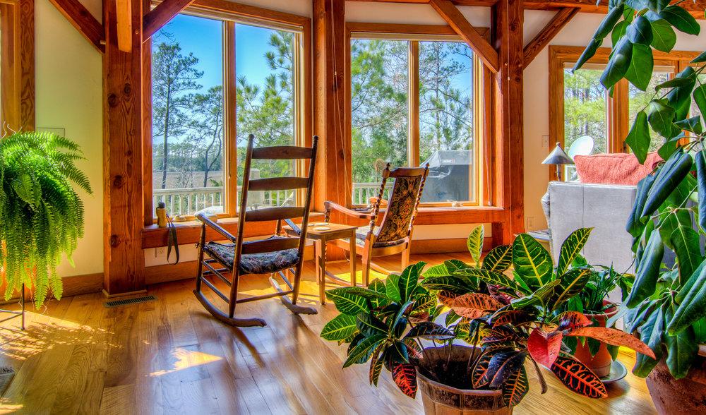Osprey Point Rd Cabin Living Room Beaufort