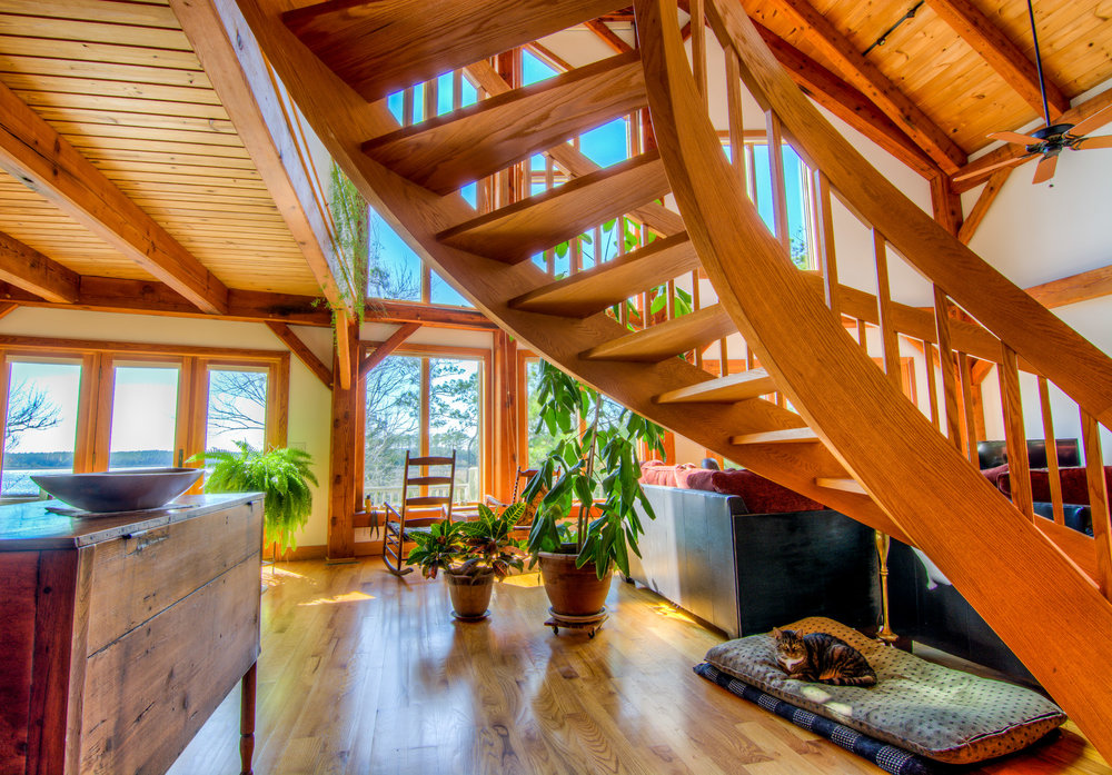 Osprey Point Rd Cabin Spiral Staircase Beaufort