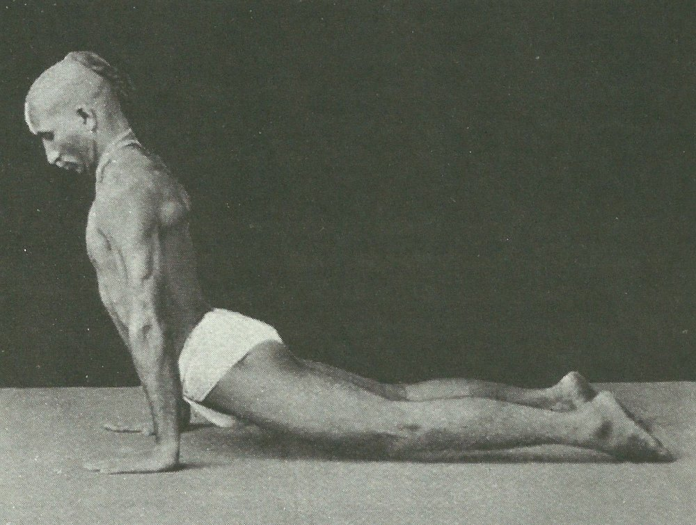 T Krishnamacharya demonstrating Upward Facing Dog