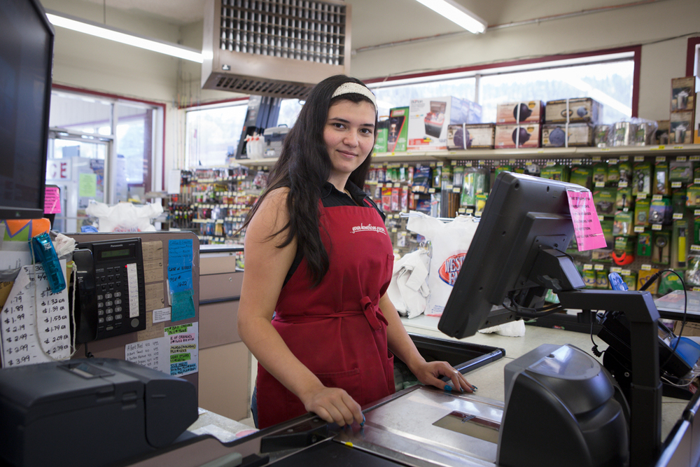 Alexis, Grocery clerk, Kooskia, Idaho