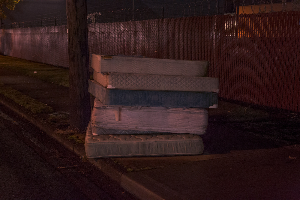 dirty mattresses 82nd st. Portland, Or