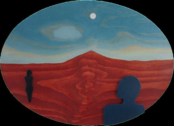 """Desert Walk, 2013 Oil on wood, 34"""" x 46"""""""