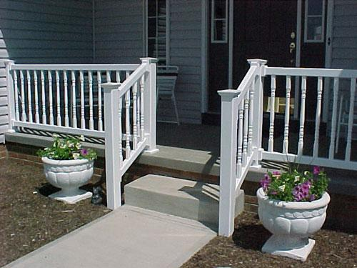 Vinyl Porch Railing With Short Posts