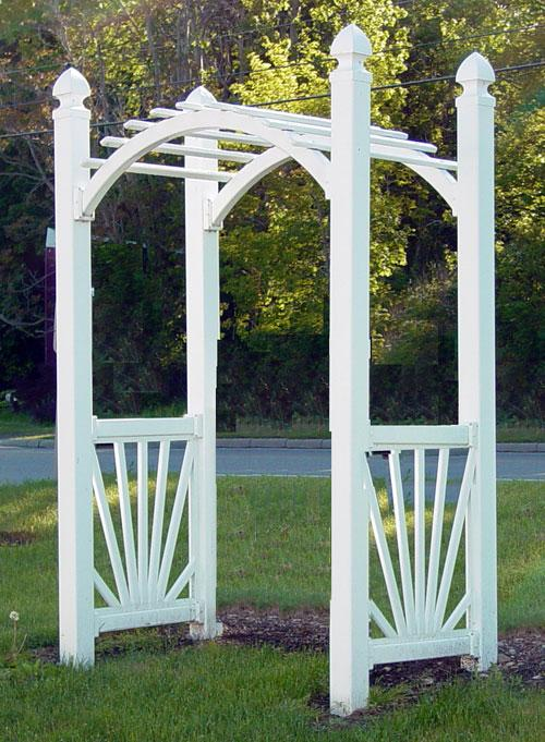 Curved Vinyl Arbor (for pricing on Vinyl Arbor see under RESOURCES)