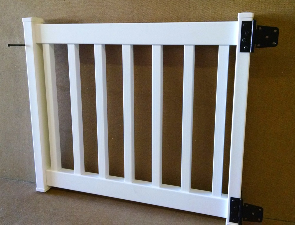 Vinyl railing gate