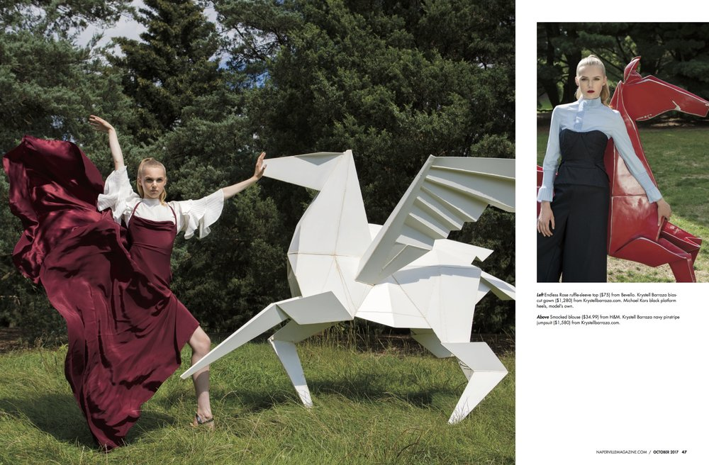 'Fashion Unfolded' by Michael Dar for  Naperville Magazine
