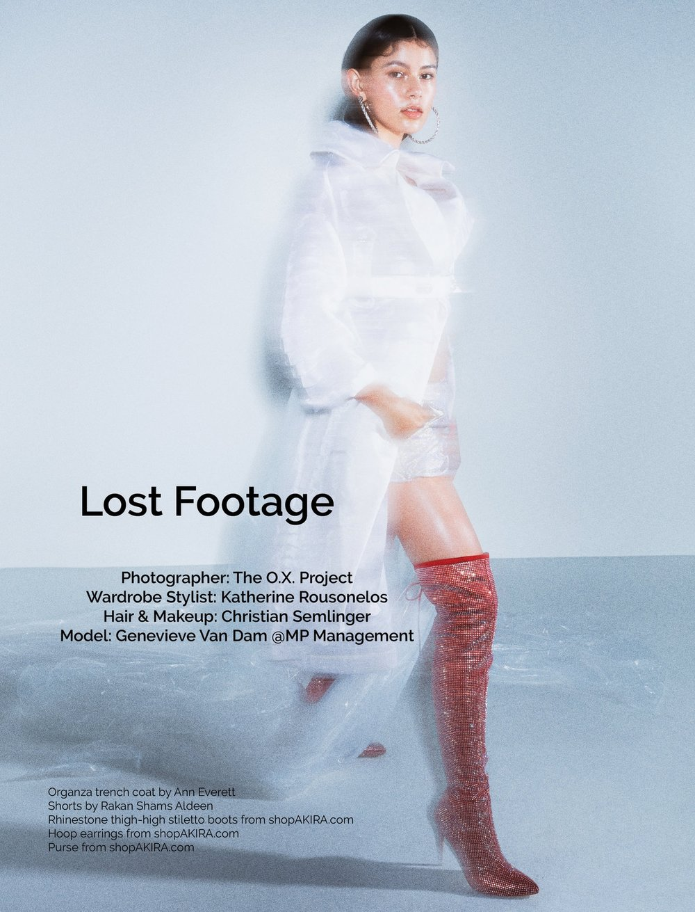'Lost Footage' for  Bring Me Magazine  by  The Ox Project