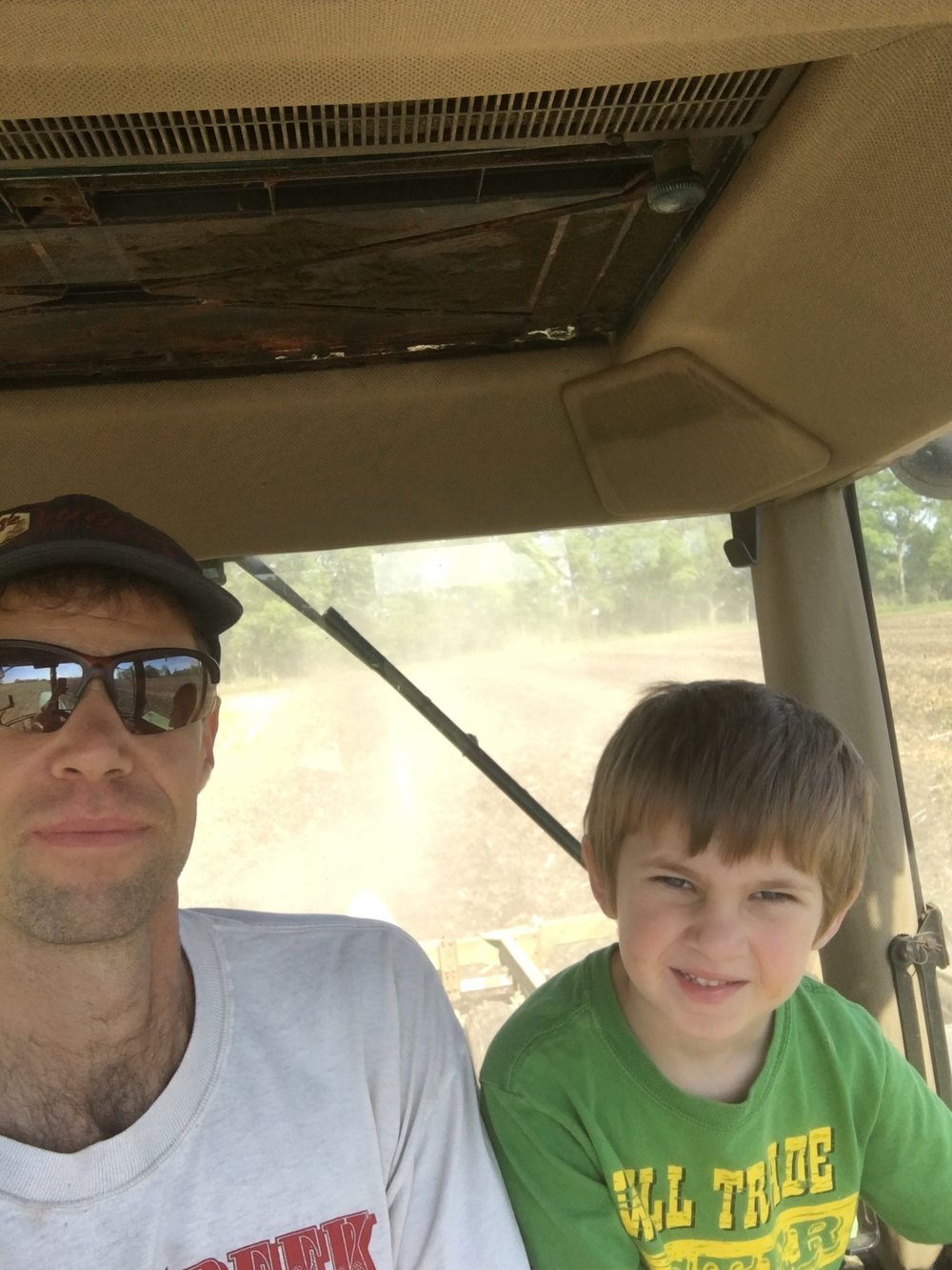 No, we're not above a farming selfie now and then.