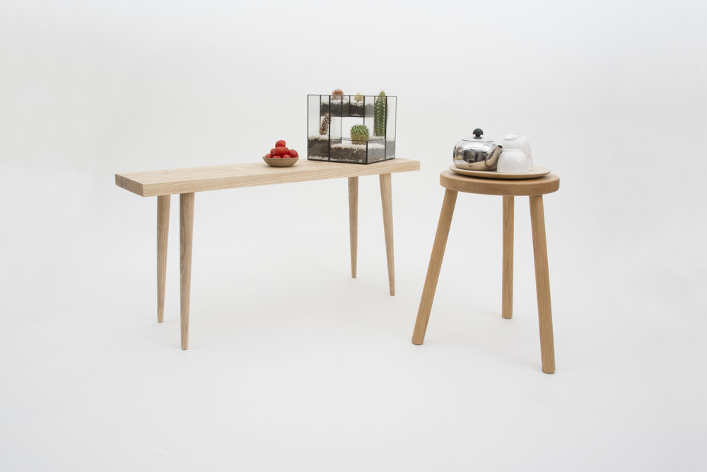 with small lamp stool