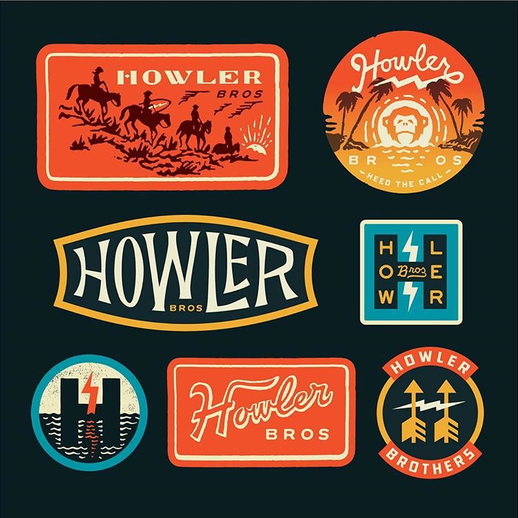 Some lovely branding / illustration work by  @Curtis_Jinkins  for Howler Bros.