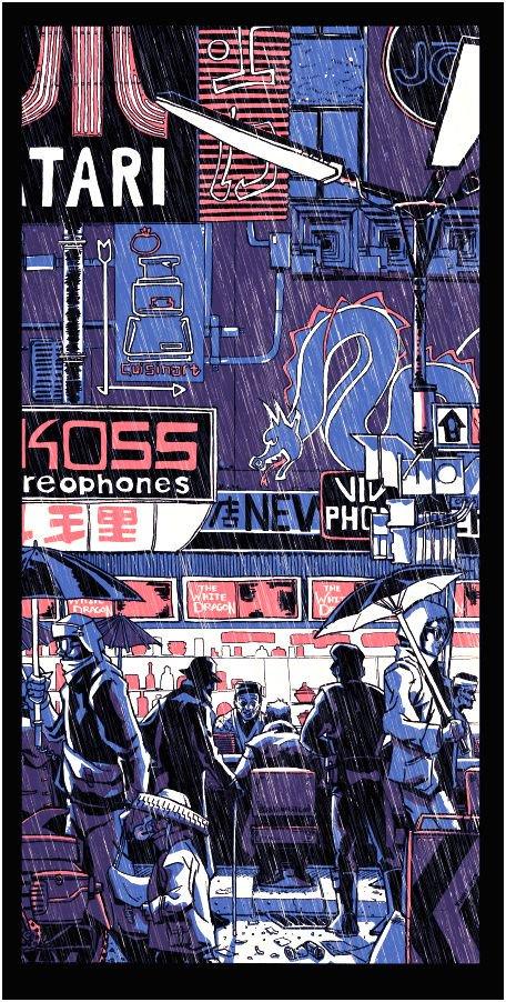 Blade Runner print by Tim Doyle.