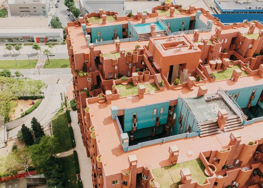 Ricardo Bofill's utopian vision for social living in Sant Just Desvern, Barcelona.
