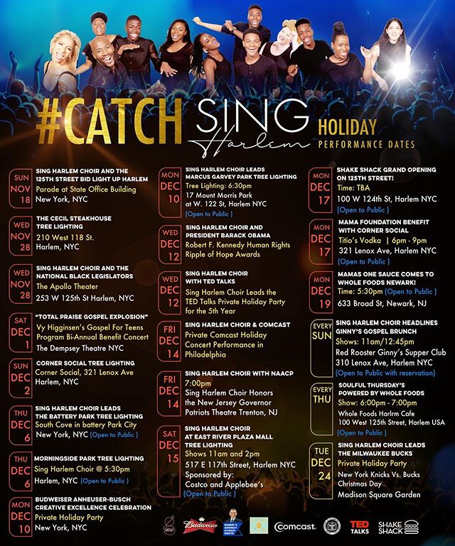 Have you caught our Professional Traveling Choir? Catch @singharlemchoir  near you!  #SingHarlemChoir #CatchSingHarlem