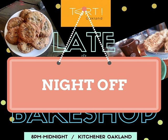 We're taking the night off tonight, but we'll be back next Saturday (6/10) with more pie, cookies and late night sweets!