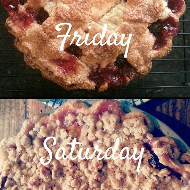The votes are in and it's #peach and #cherry #pie. So how about Cherry on Friday and Peach on Saturday? . . . #latenightbakeshop 8pm-midnight #kitcheneroakland