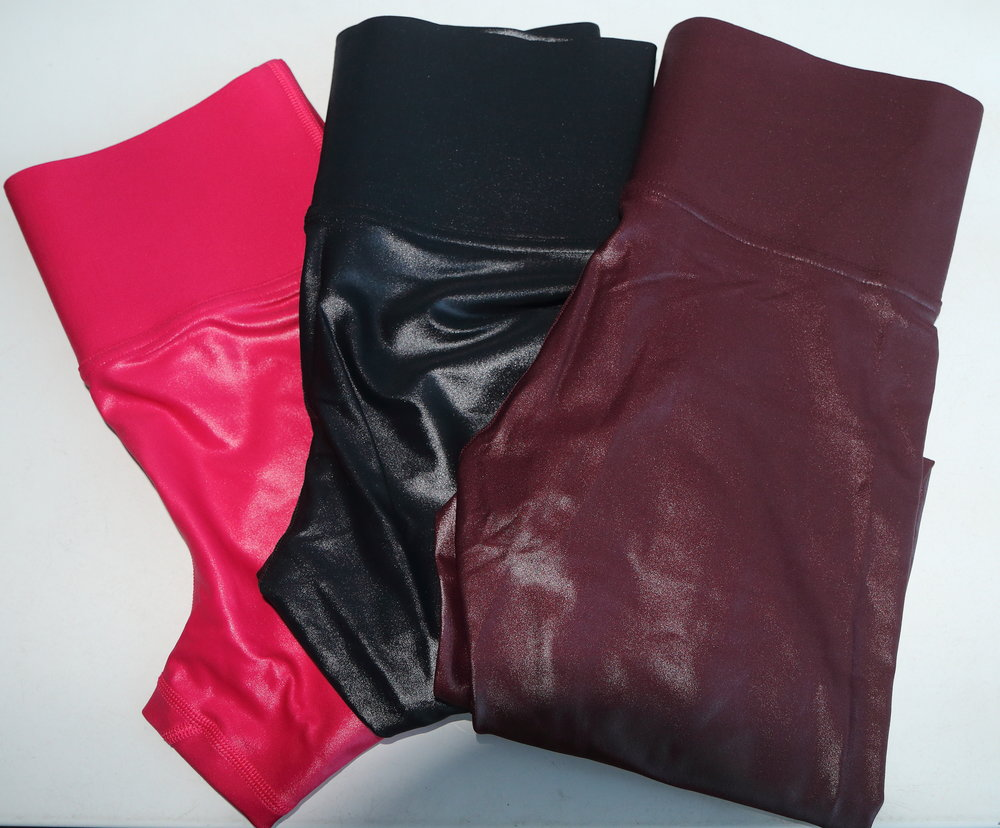 From left to right: orchid pink, black, and wine